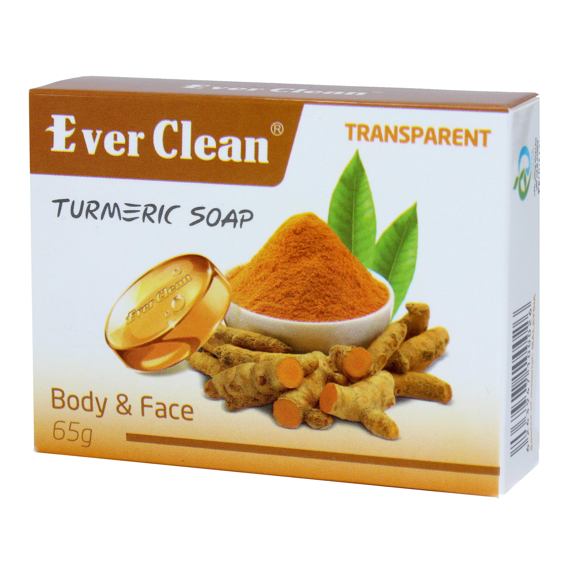 خرید                      صابون اورکلین شفاف مدل زردچوبه  65 گرم