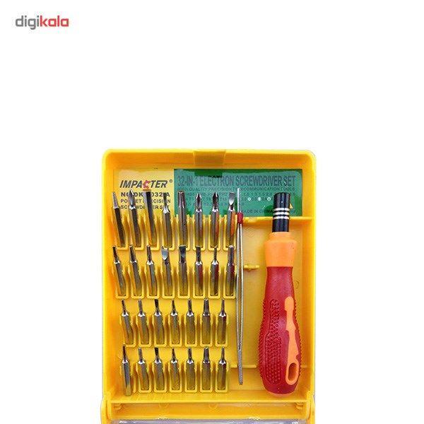 مجموعه 32 عددی سری پیچ گوشتی موبایلی ایمپکتور مدل ME 6032-A main 1 3