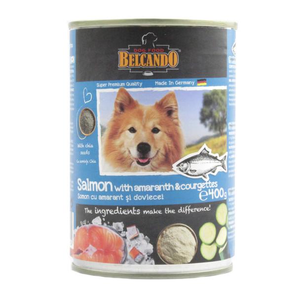 کنسرو غذای سگ بلکاندو مدل Salmon Amoranth وزن 400 گرم