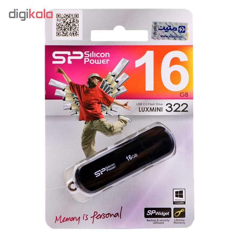 فلش مموری سیلیکون پاور مدل Luxmini 322 ظرفیت 16 گیگابایت  Silicon Power Luxmini 322 Flash Memory 1