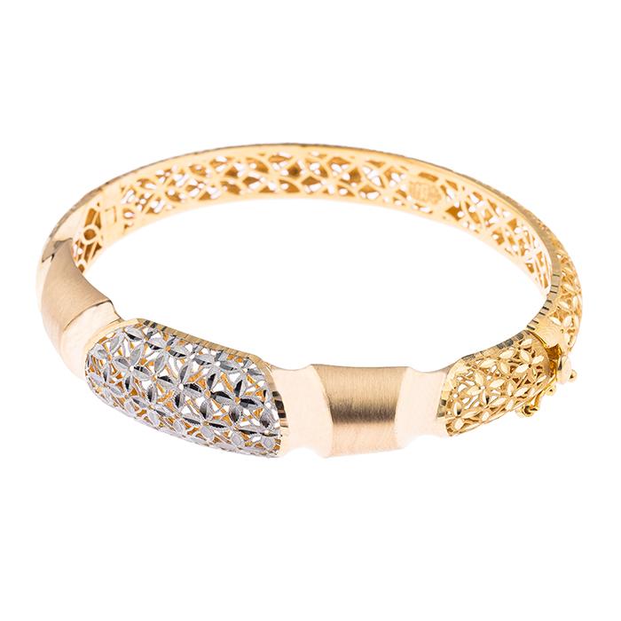 دستبند طلا 18 عیار کد 3023 |