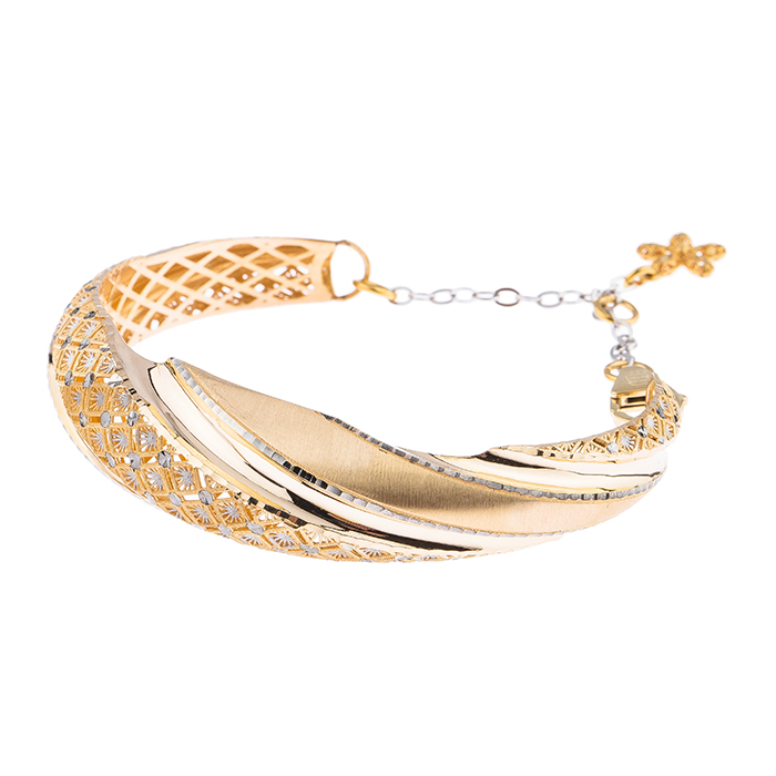 قیمت دستبند طلا 18عیار کد ۲۳۸