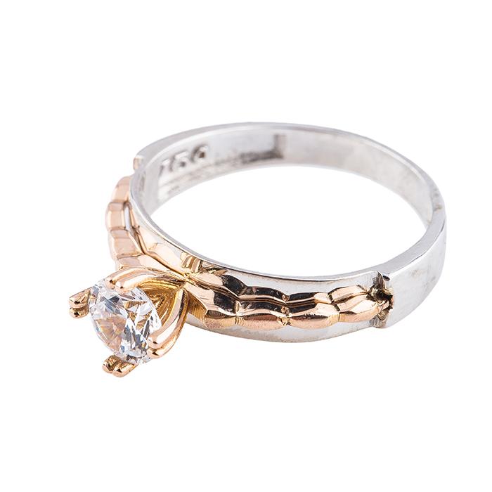قیمت انگشتر طلا 18 عیار کد T376