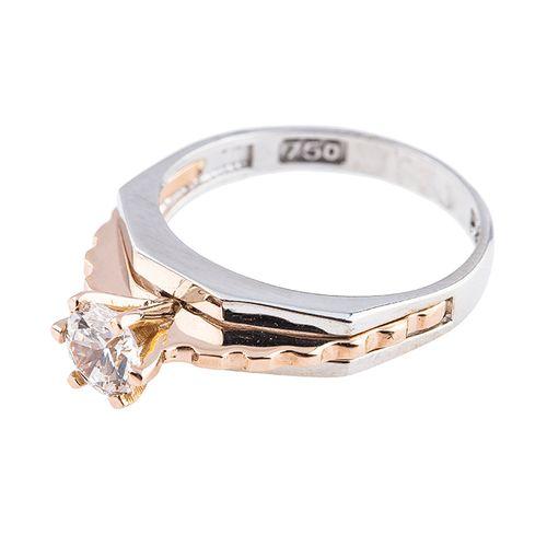 انگشتر طلا 18 عیار کد 128