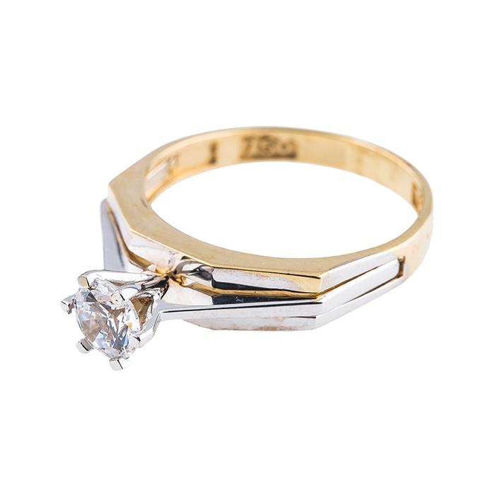 قیمت انگشتر طلا 18 عیار کد 129
