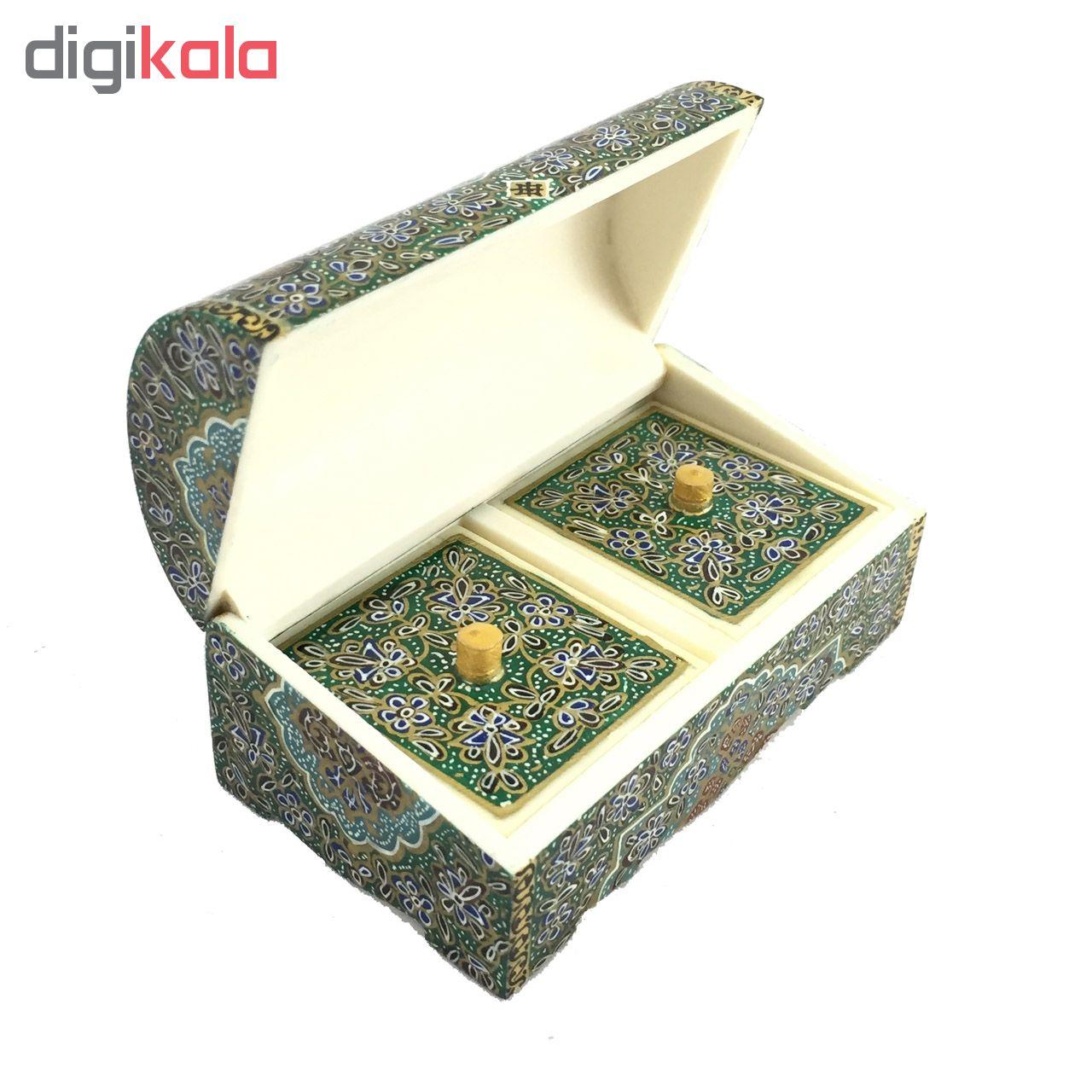 خرید                      جعبه جواهرات استخوانی مدل CB9green