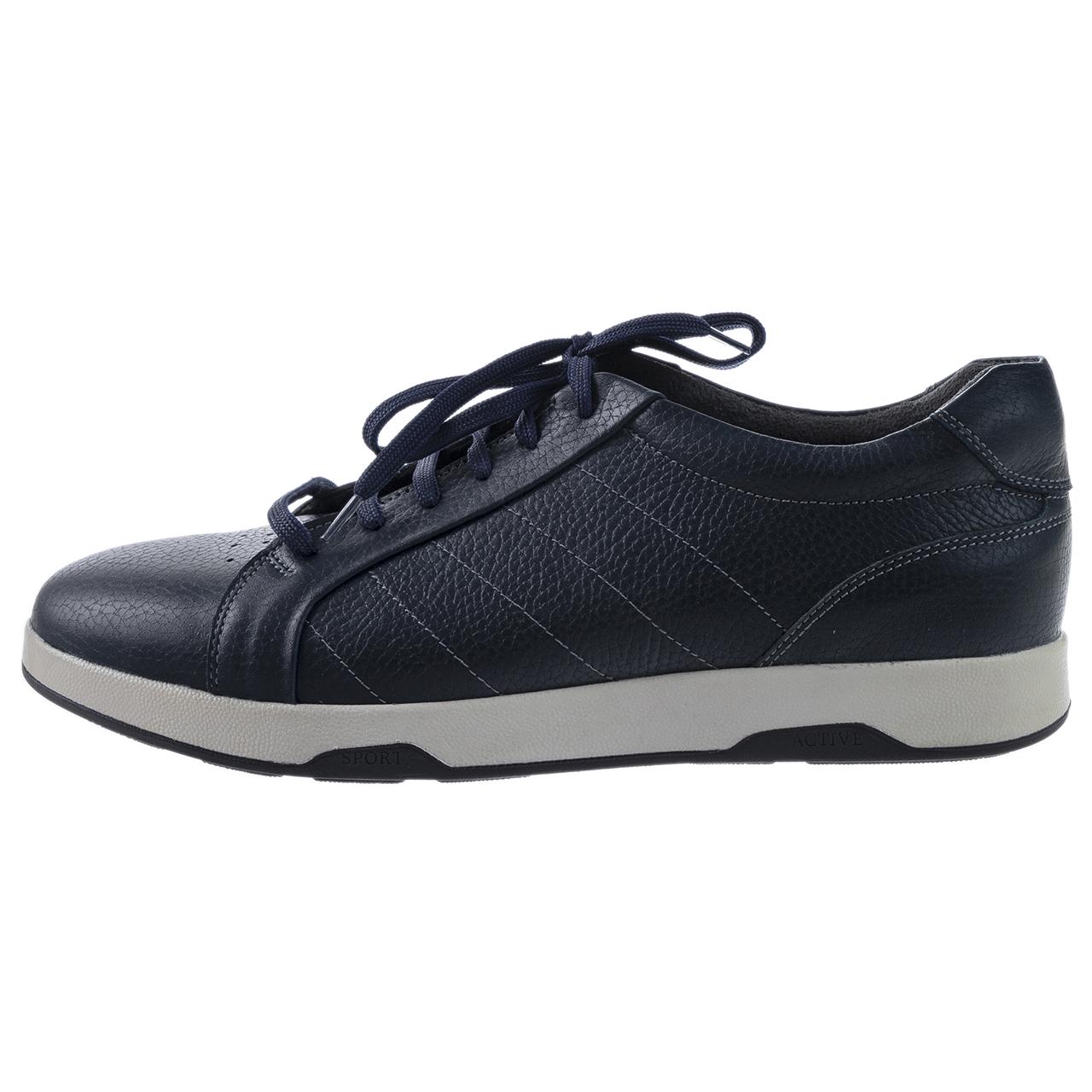 کفش مردانه چرم طبیعی مدل اسپرت سرمه ای کد19
