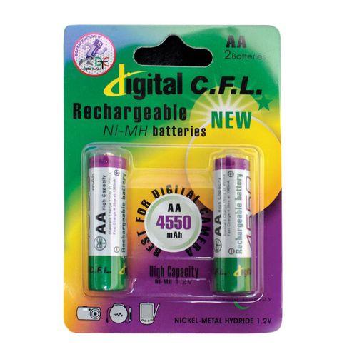 باتری نیم قلمی قابل شارژ CFL مدل 1850mah AAA بسته 2 عددی
