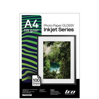 کاغذ چاپ عکس گلاسه لیوکام مدل 115 گرمی سایز A4 بسته 100 عددی