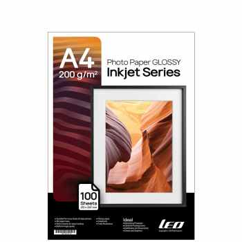 کاغذ چاپ عکس گلاسه لیوکام مدل 200 گرمی سایز A4 بسته 100 عددی
