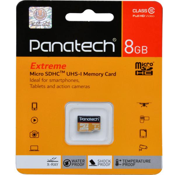 کارت حافظه microSDHC پاناتک کلاس 10 استاندارد سرعت 30 MBps ظرفیت 8 گیگابایت