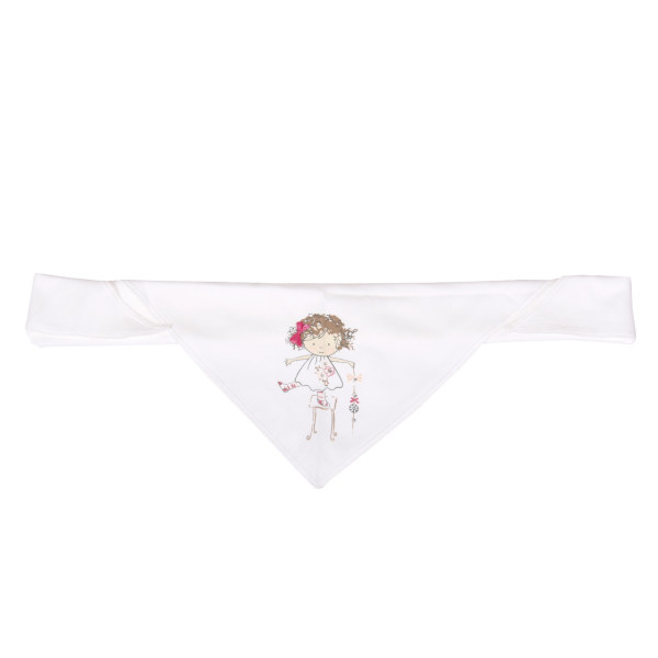 روسری نوزادی نیلی مدل دخترک