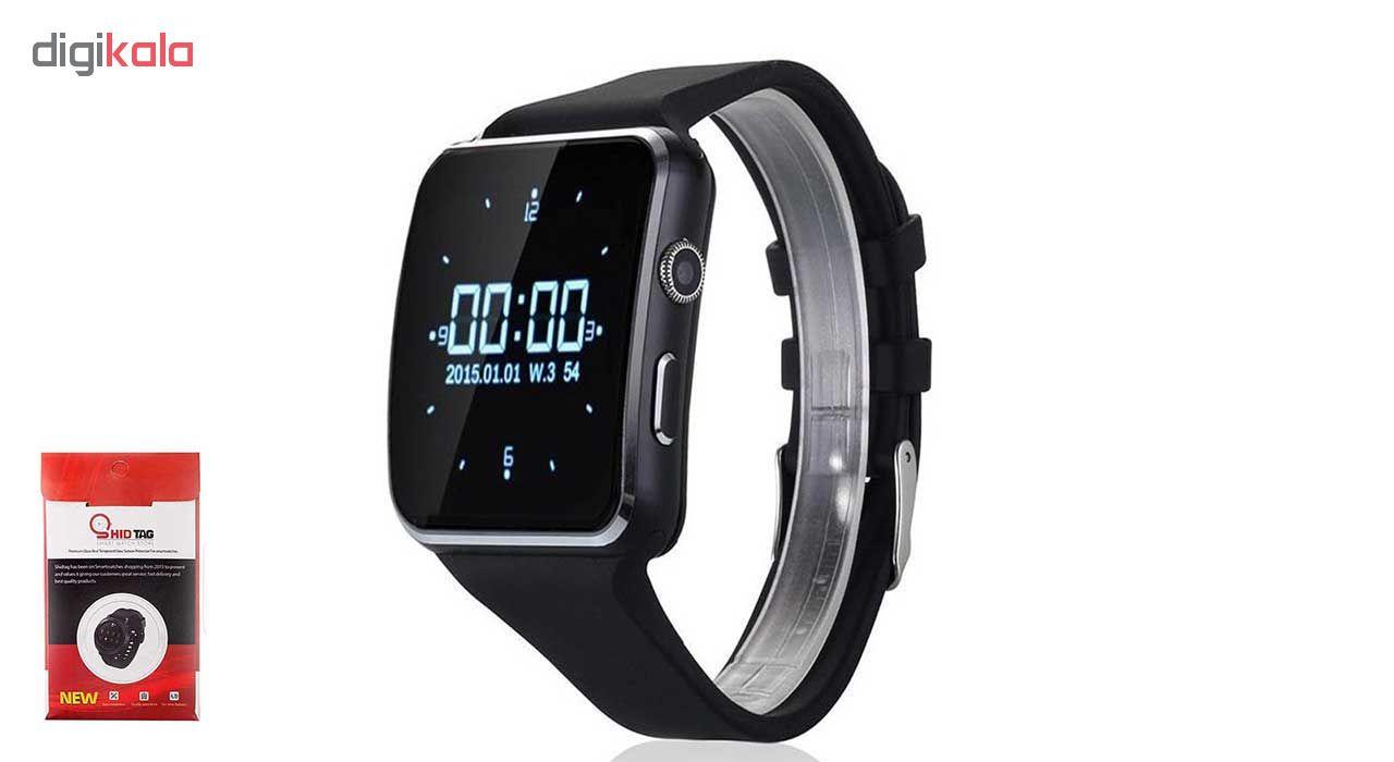خرید ساعت هوشمند  مدل x6 همراه محافظ صفحه نمایش شیدتگ