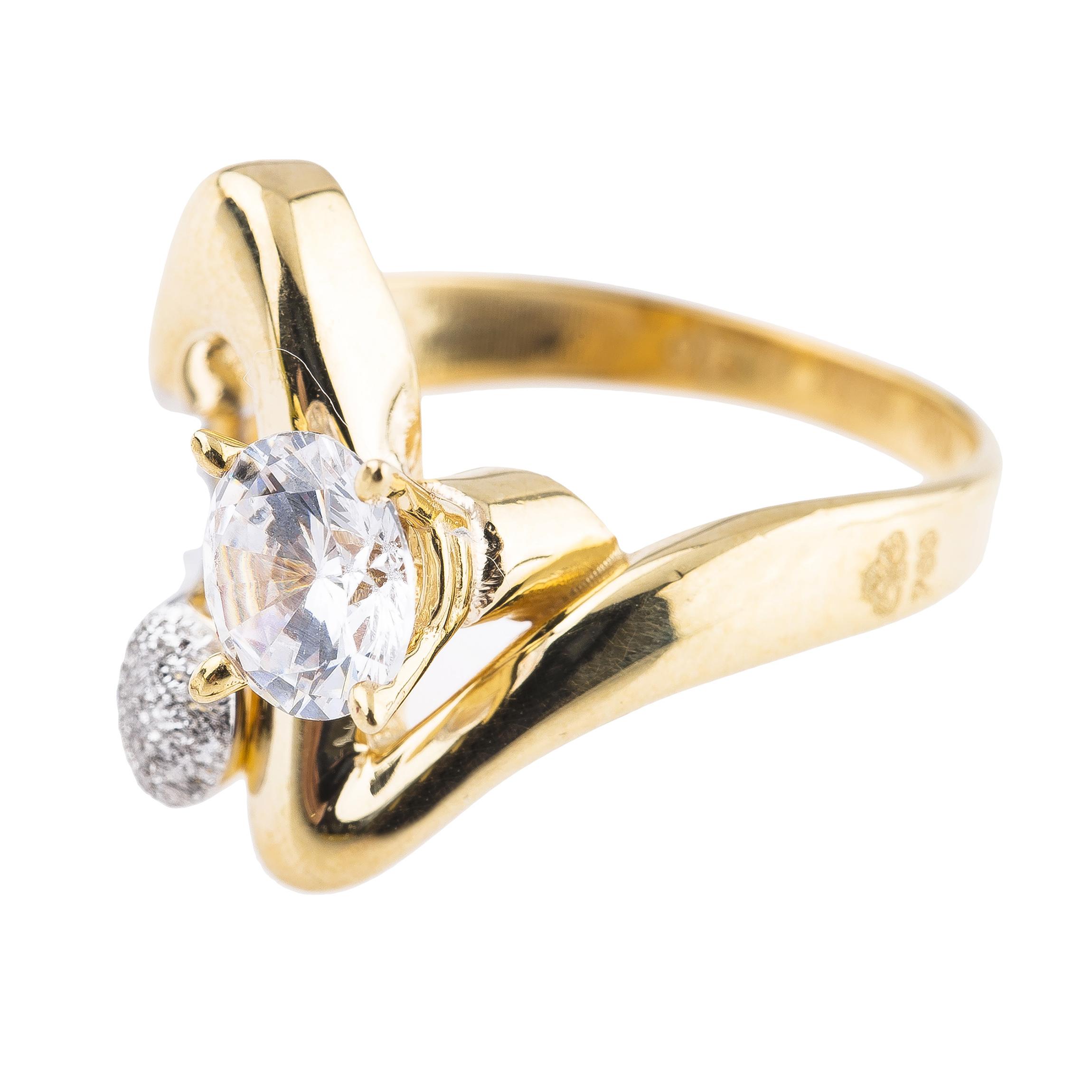 انگشتر طلا 18 عیار کد 142