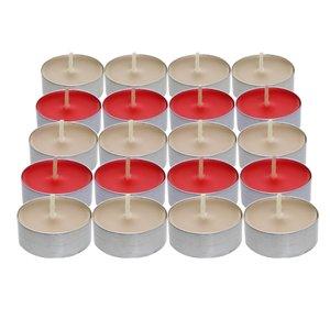 شمع وارمر مدل redwhite بسته 20 عددی