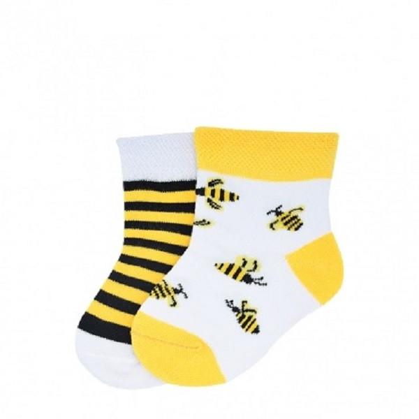 جوراب بچگانه طرح زنبور مدل AP7