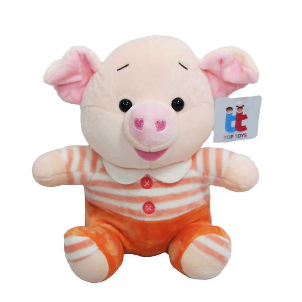 عروسک تاپ تویز مدل خوک تپل ارتفاع 25 سانتی متر