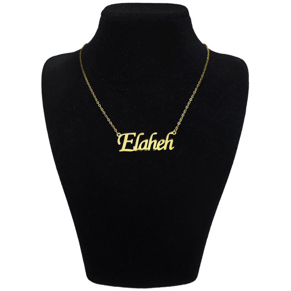 گردنبند آی جواهر طرح اسم الهه کد 11107GE