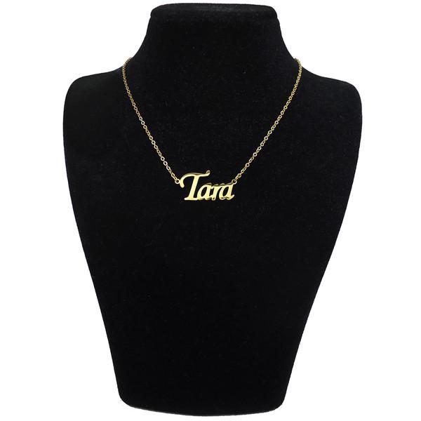 گردنبند آی جواهر طرح اسم تارا کد 11107GE