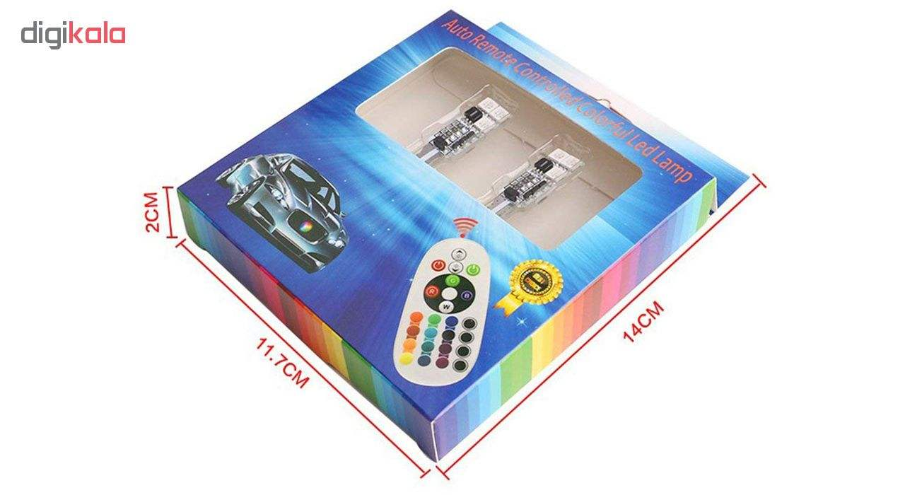 لامپ اس ام دی با قابلیت تغییر رنگ و حالت نوردهی مدل L02 بسته 2 عددی main 1 9