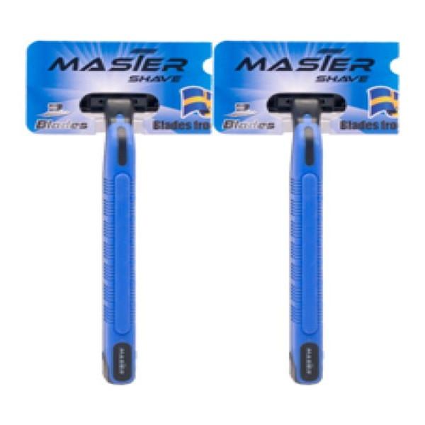 خود تراش مستر شیو مدل 03-Blue بسته 2 عددی