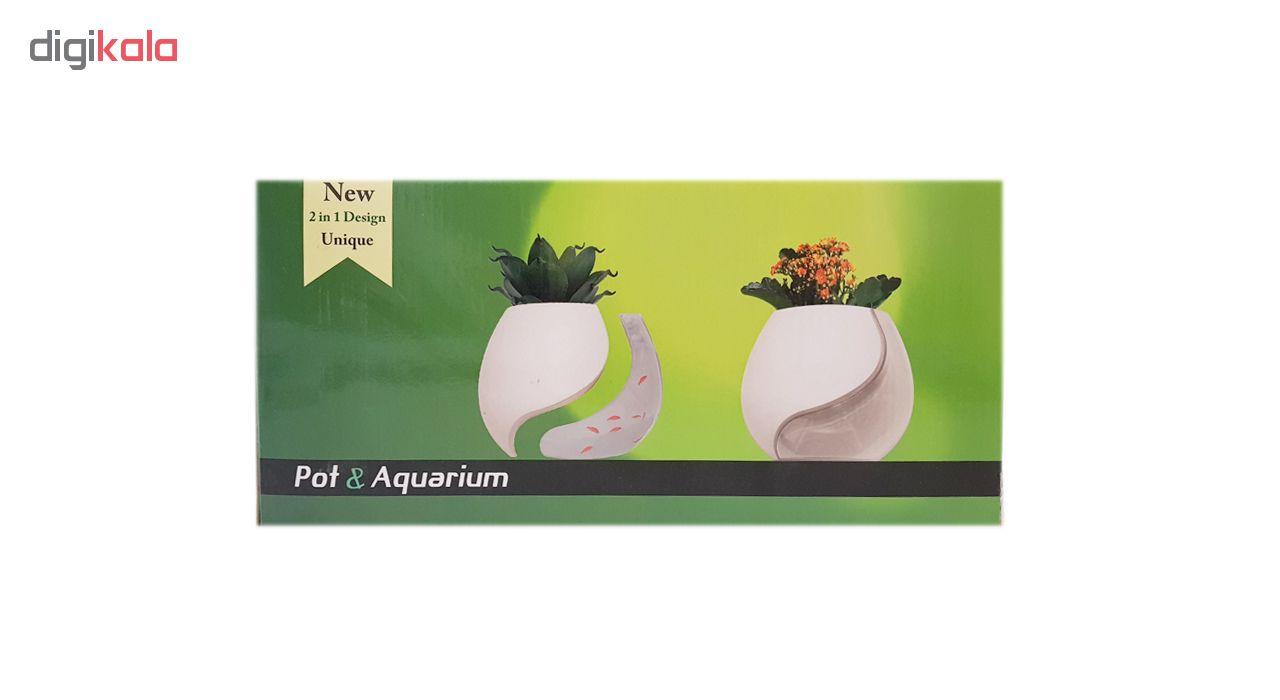آکواربوم سون گرین طرح گلدان مدل 1025