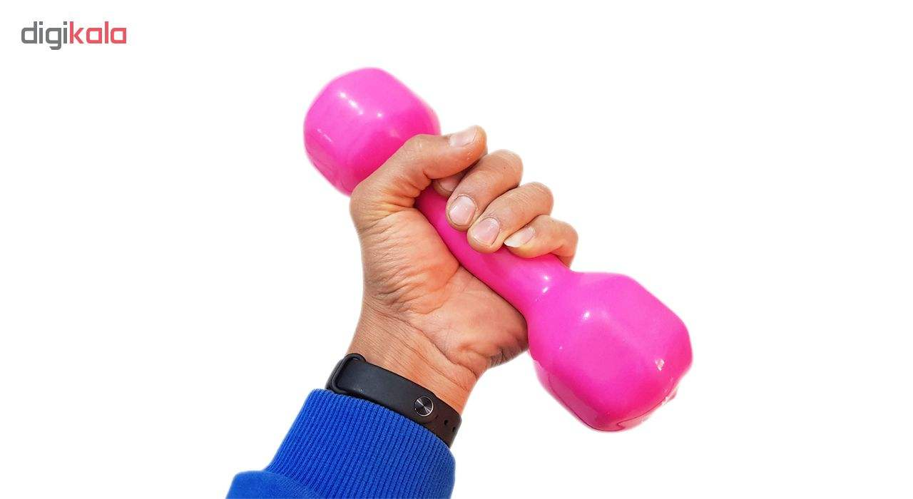 دمبل ایروبیک روکش دار 3 کیلوگرمی مدل 01-Pink بسته دو عددی main 1 1