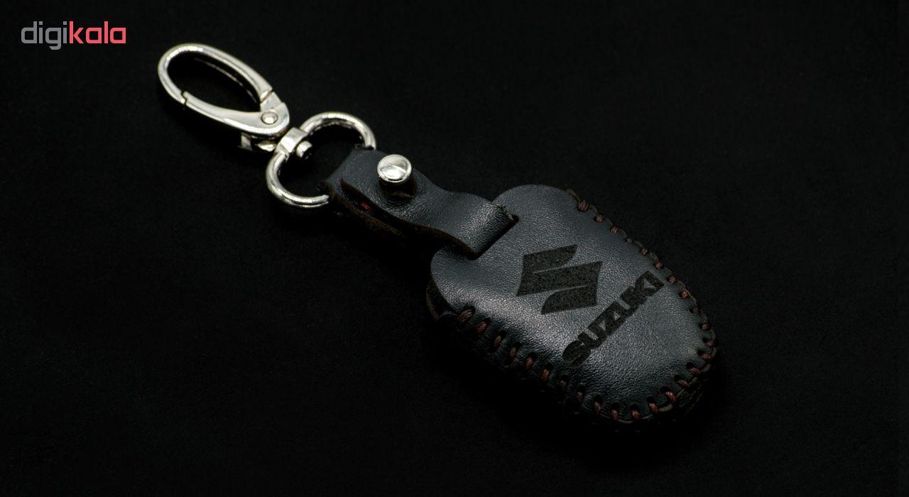 جاسوئیچی خودرو چرم طبیعی کد ct-541 مناسب برای سوزوکی کلیددار (عرضه کالا)