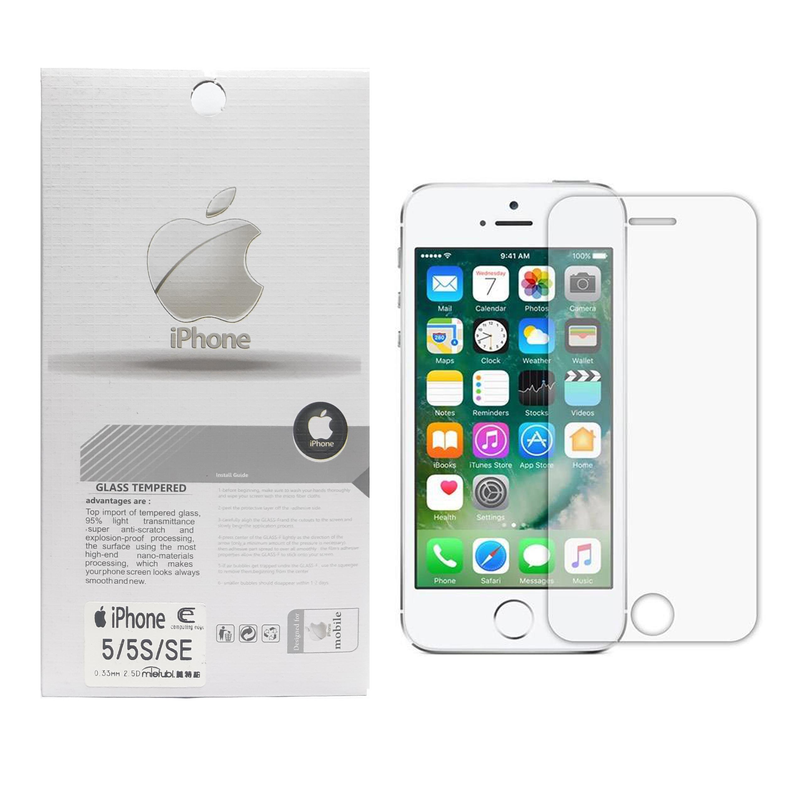 محافظ صفحه نمایش تسلا مدل Tempered مناسب برای گوشی موبایل اپل iphone 5/5s/se