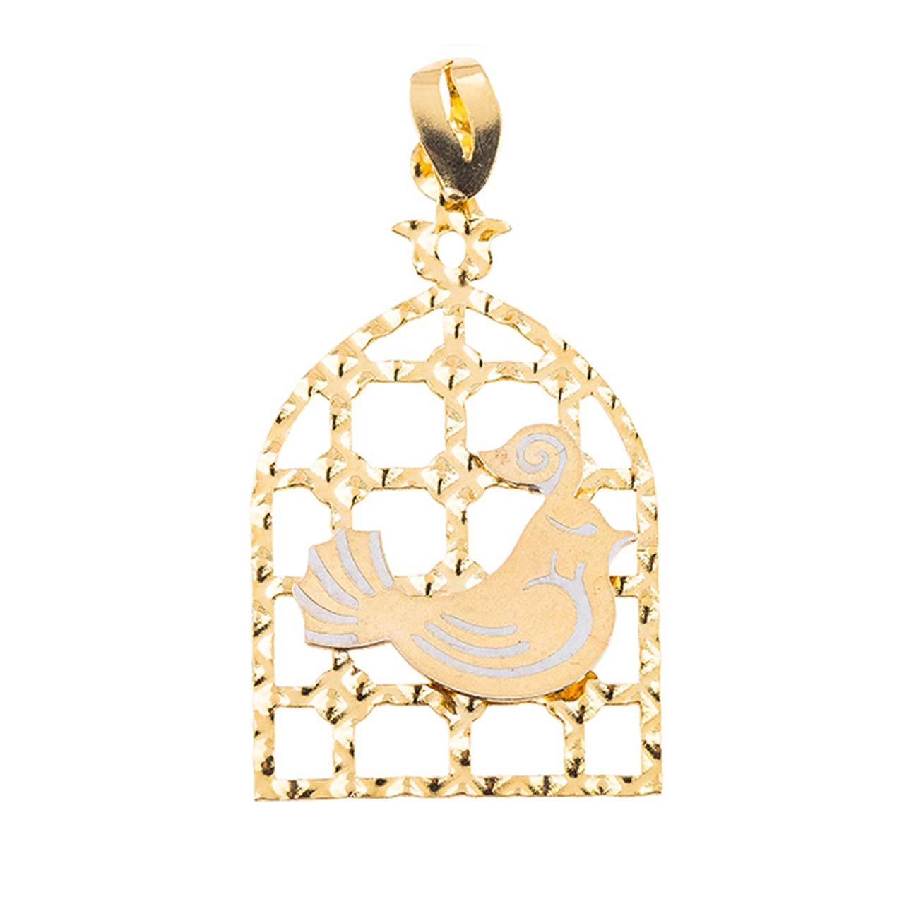 آویز گردنبند طلا18 عیارمدل مرغ آمین کدMT
