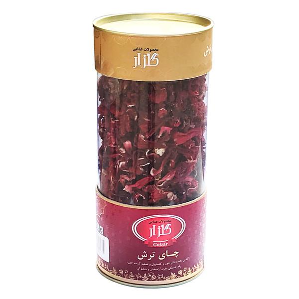 دمنوش گیاهی چای ترش گلزار مدل Hibiscus Tea مقدار 110 گرم