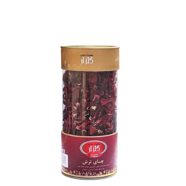 دمنوش گیاهی چای ترش گلزار مدل Hibiscus Tea مقدار 75 گرم