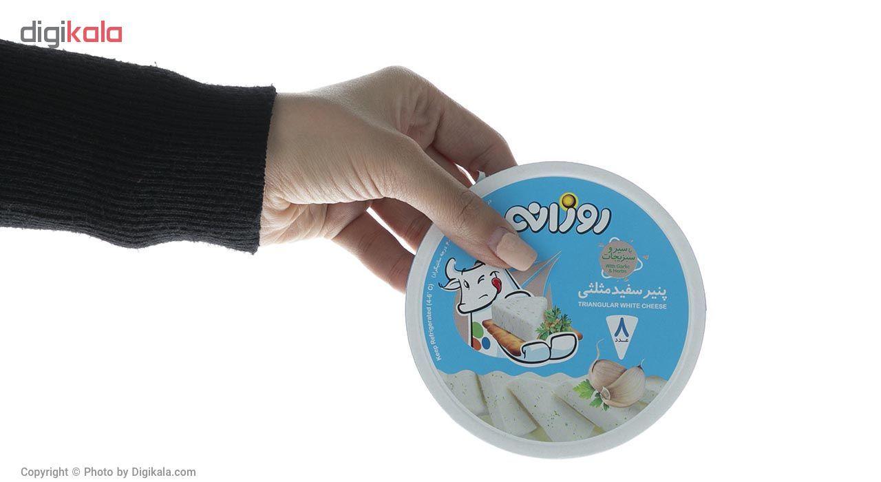 پنیر سفید مثلثی با سیر و سبزیجات روزانه مقدار 120 گرم main 1 1