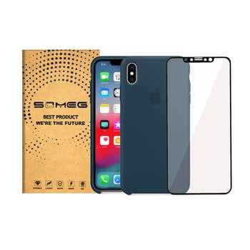 کاور سومگ مدل SIC مناسب برای گوشی موبایل اپل iPhone X به همراه محافظ صفحه نمایش