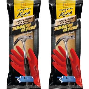 دستکش صنعتی دستکش گیلان مدل L 02  بسته 2 جفتی