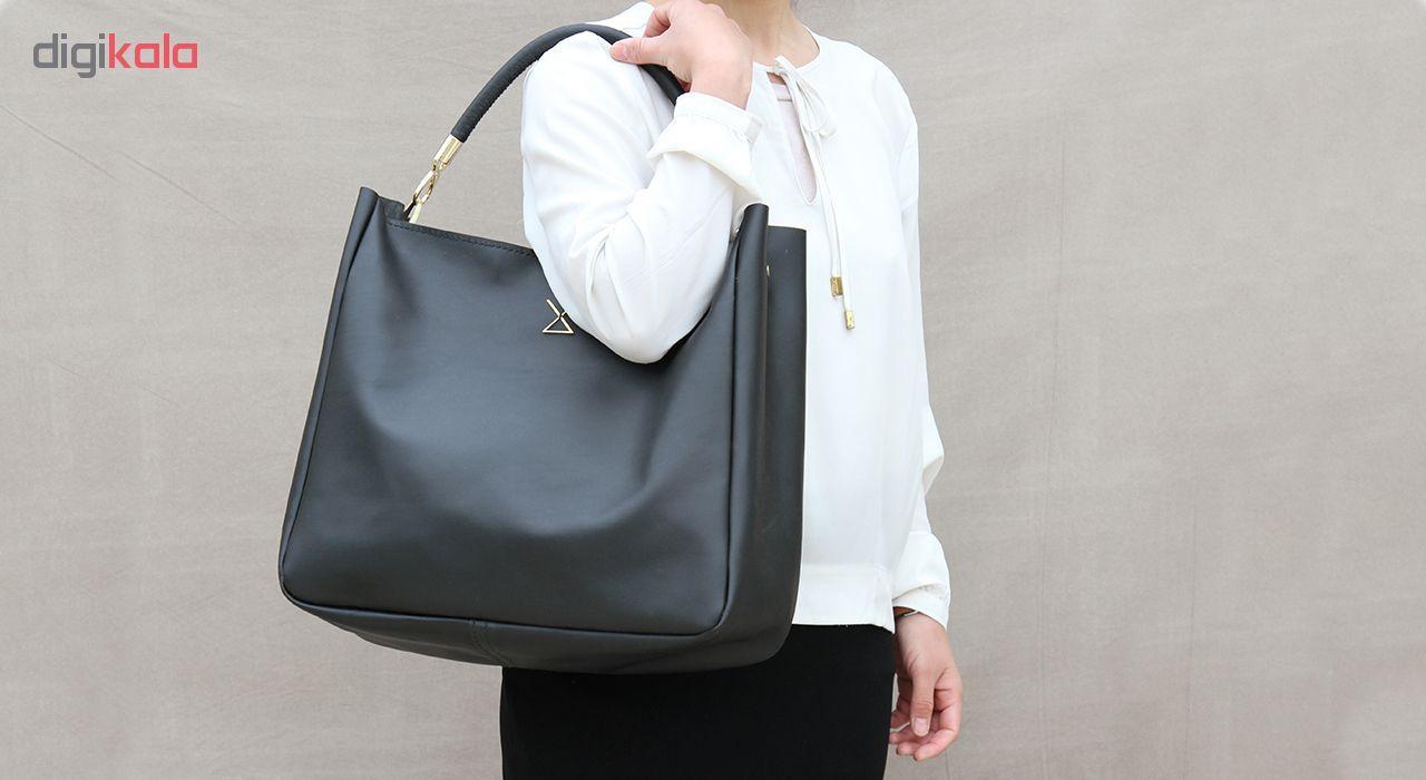 کیف دستی زنانه چرم لانکا مدل HB-24 -  - 4