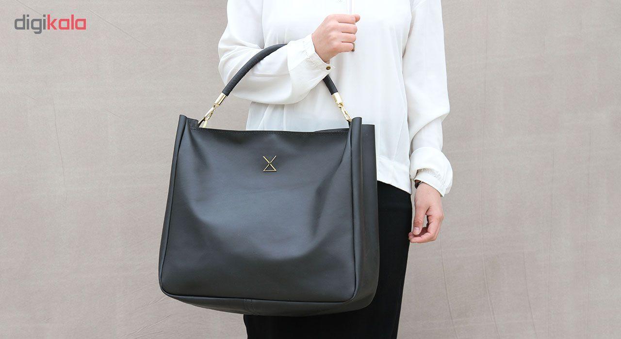 کیف دستی زنانه چرم لانکا مدل HB-24 -  - 8