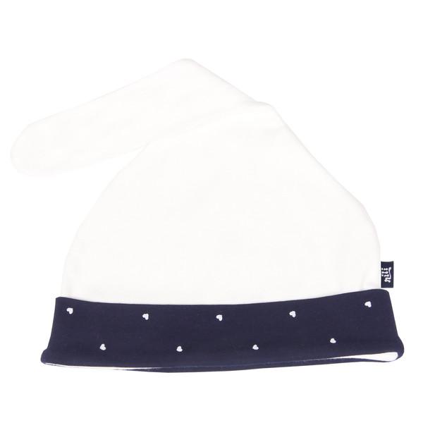 کلاه نوزادی نیلی مدل sweet heart کد 001