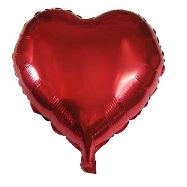 عکس بادکنک فویلی طرح قلب مدل QR2