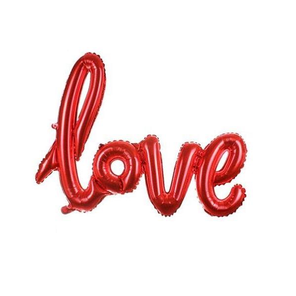 بادکنک فویلی طرح Love مدل PT6