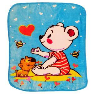 پتوی نوزاد شادیلون طرح بچه خرس سایز 80x100 سانتی متر