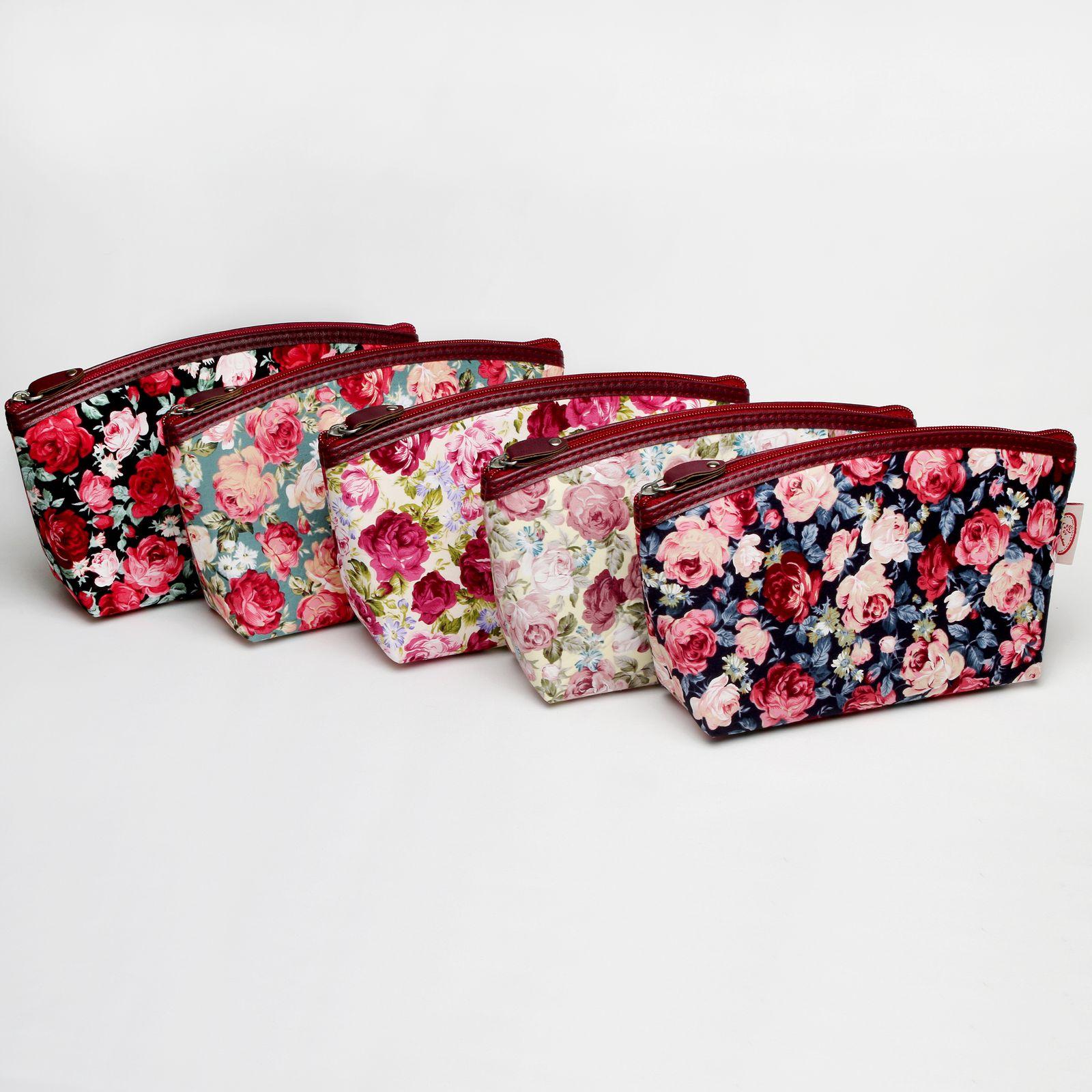 کیف لوازم آرایش زنانه سیب کد 15-Bgf مجموعه 3 عددی -  - 8