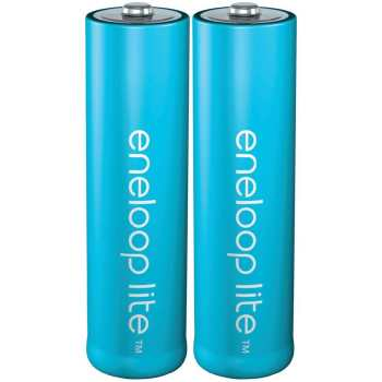 باتری قلمی قابل شارژ پاناسونیک مدل Eneloop Lite بسته 2 عددی