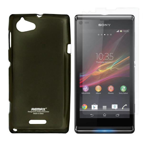 کاور ریمکس مدل Pudding مناسب برای گوشی موبایل سونی Xperia L / S36h / C2105 به همراه محافظ صفحه نمایش