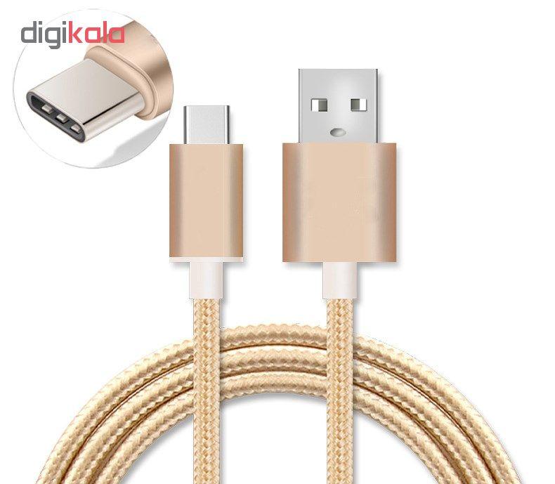 کابل شارژ، انتقال اطلاعات و تبدیل USB به USB-C  المو مدل  X-C-N طول 1 متر