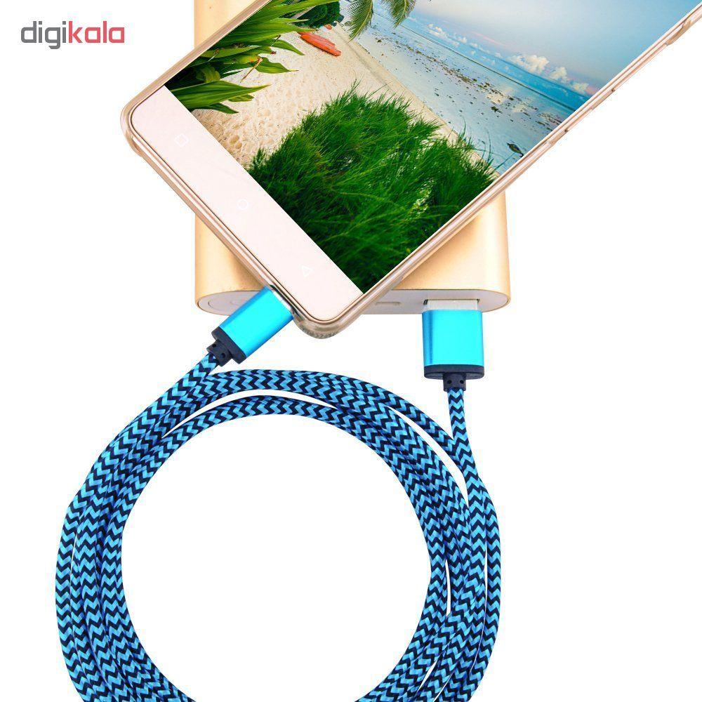 کابل  شارژ، انتقال اطلاعات و تبدیل USB به MicroUSB  المو مدل  X-S-N طول 1 متر main 1 2