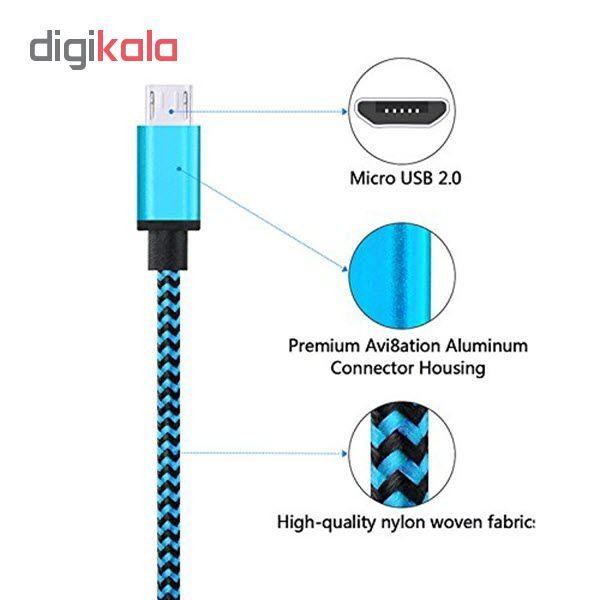 کابل  شارژ، انتقال اطلاعات و تبدیل USB به MicroUSB  المو مدل  X-S-N طول 1 متر main 1 3