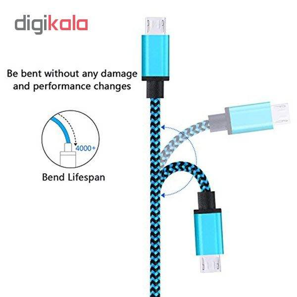کابل  شارژ، انتقال اطلاعات و تبدیل USB به MicroUSB  المو مدل  X-S-N طول 1 متر main 1 4