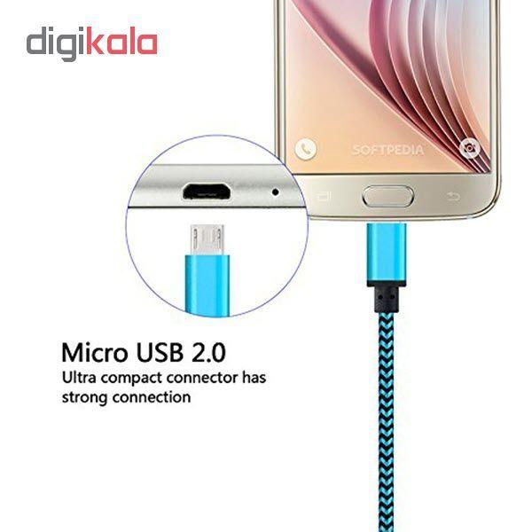 کابل  شارژ، انتقال اطلاعات و تبدیل USB به MicroUSB  المو مدل  X-S-N طول 1 متر main 1 5