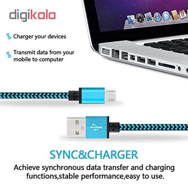 کابل  شارژ، انتقال اطلاعات و تبدیل USB به MicroUSB  المو مدل  X-S-N طول 1 متر main 1 6